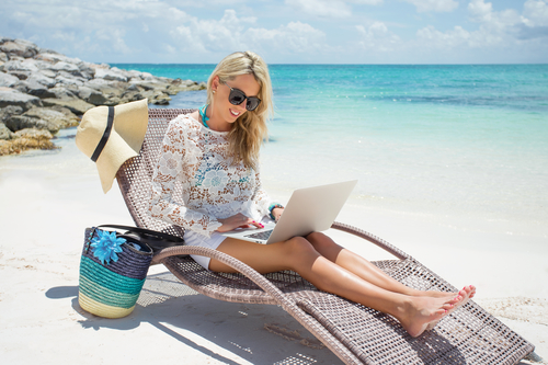 Business Coach on Beach