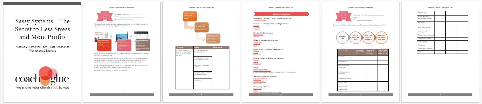 Module 2 Tame the Tech Action Plan Screenshot