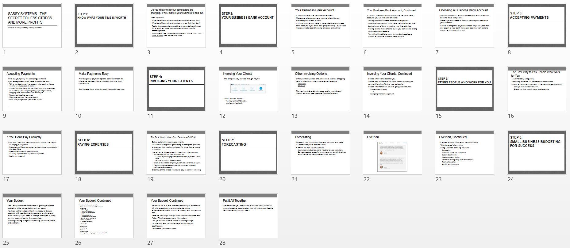 Module 4 Easy Breezy Money Matters PowerPoint Screenshot