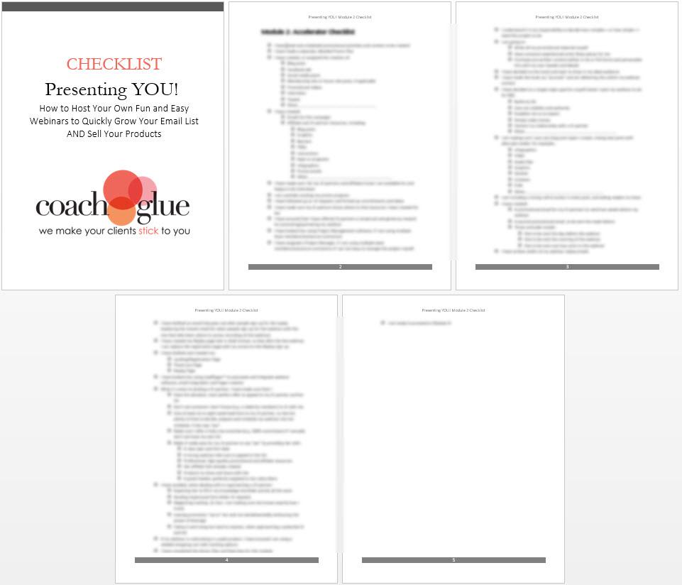 Module 2 checklist screenshot