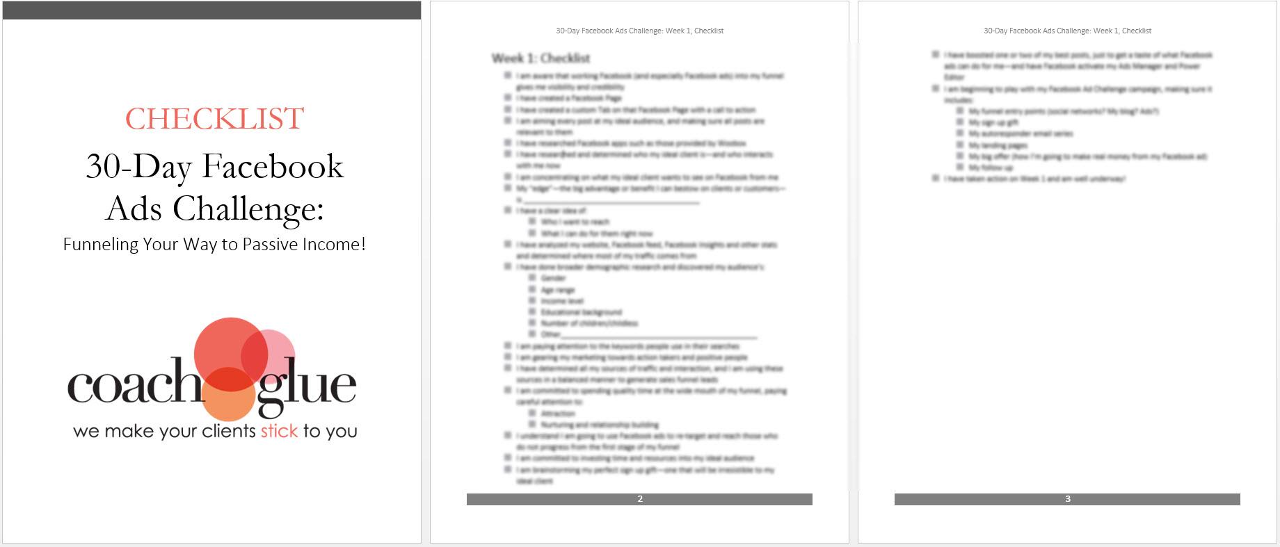 week 1 checklist