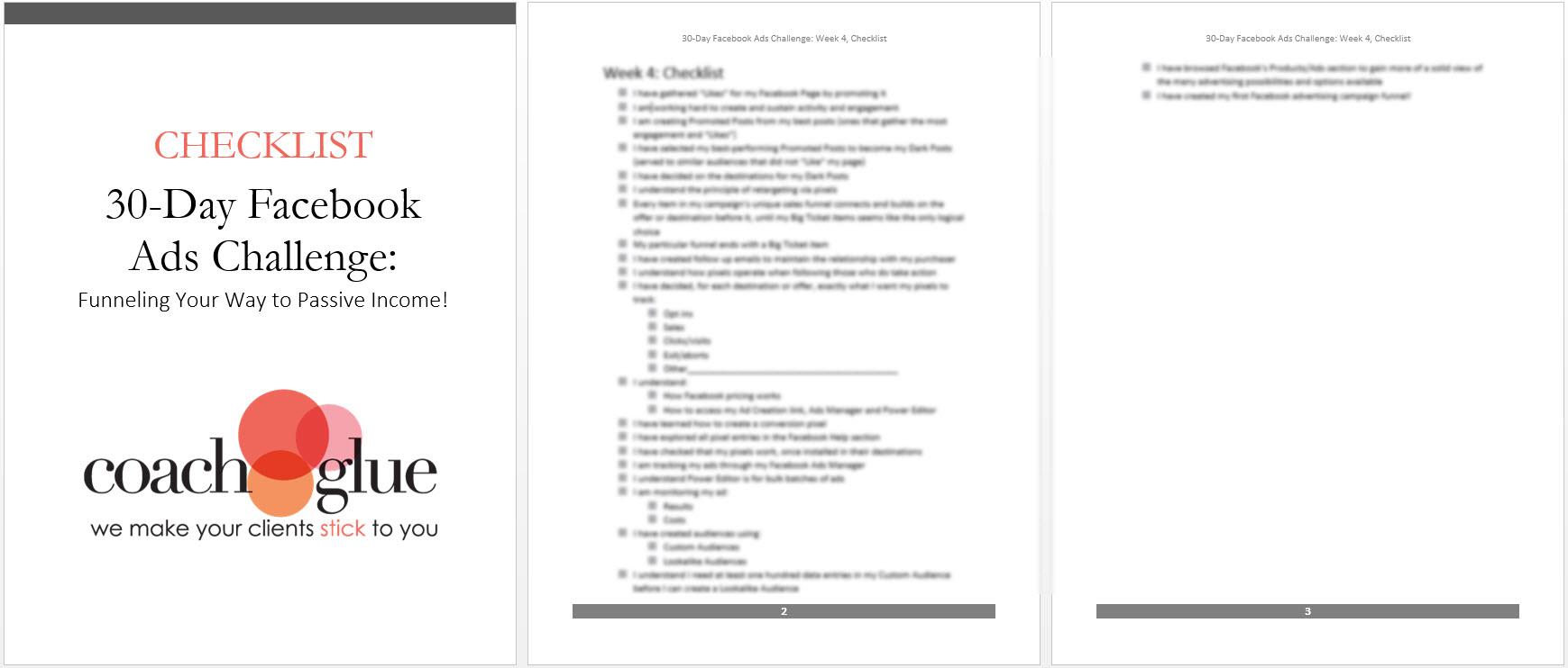 week 4 checklist