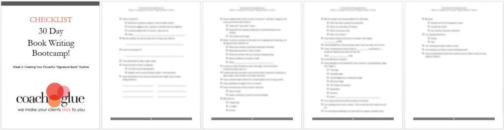 week 2 checklist