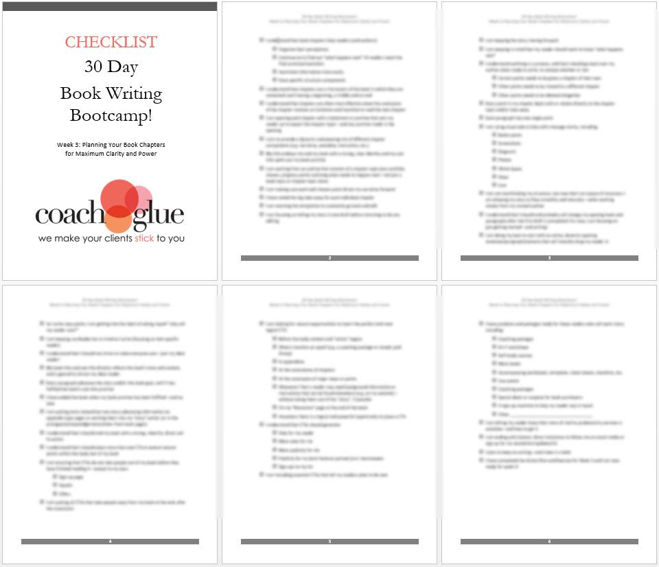 week 3 checklist
