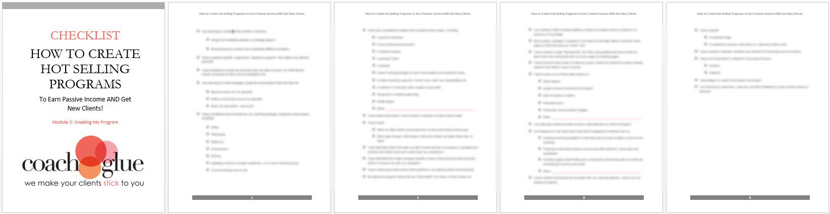 module 2 checklist