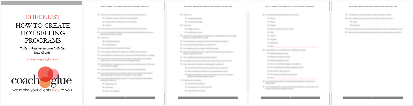 module 3 checklist