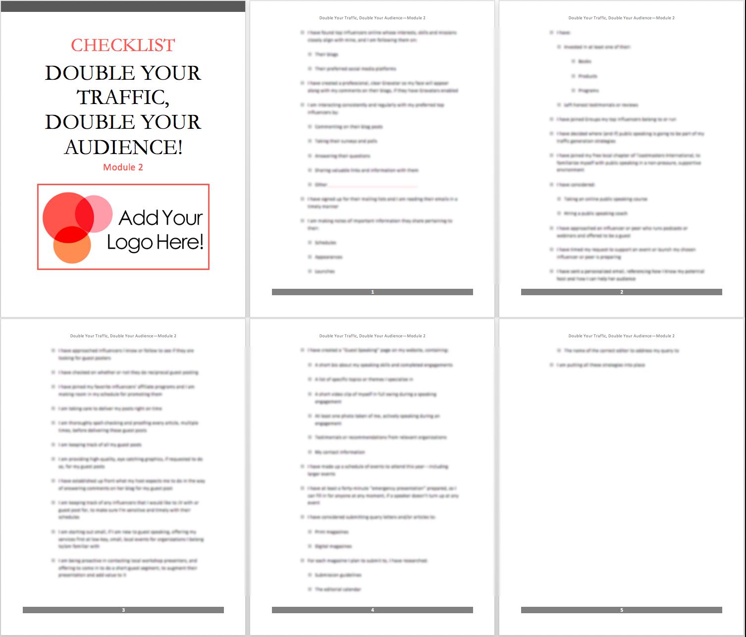 mod 2 checklist