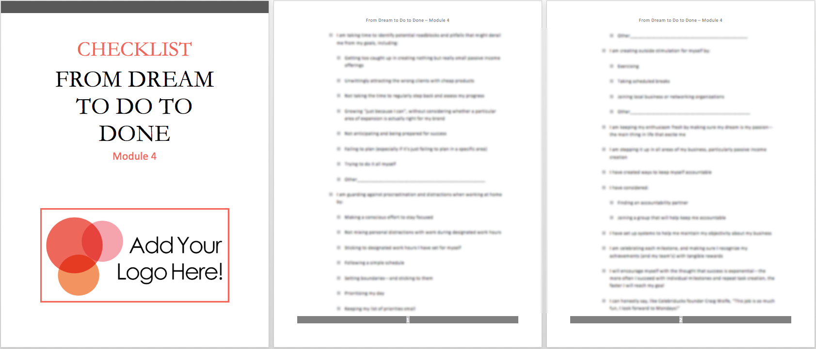 mod 4 checklist